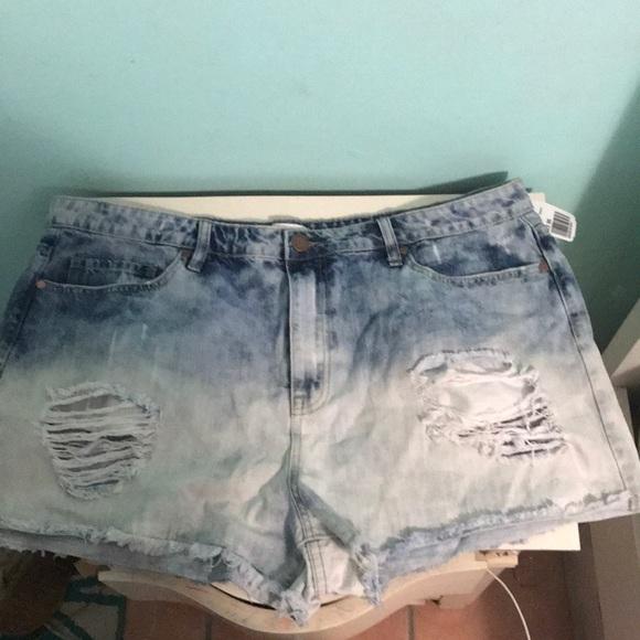 5533593269 Forever 21 Shorts | Ombre Distress Acid Wash Denim | Poshmark
